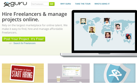 Sites such as Guru.com help entrepreneurs locate freelance, outsourced talent.