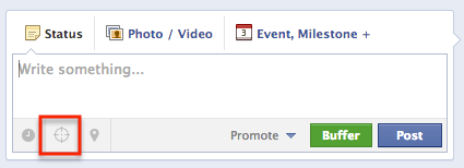 Click the target icon to enable post targeting.