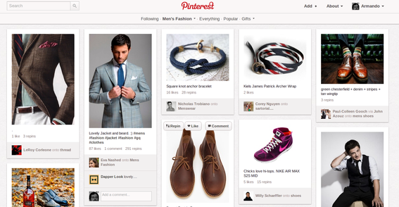 Pinterest is akin to a large, ever changing lookbook.