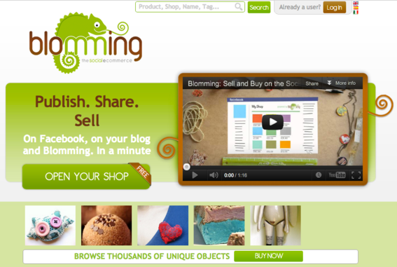 Blomming shops can be set up on blogs and Facebook pages.