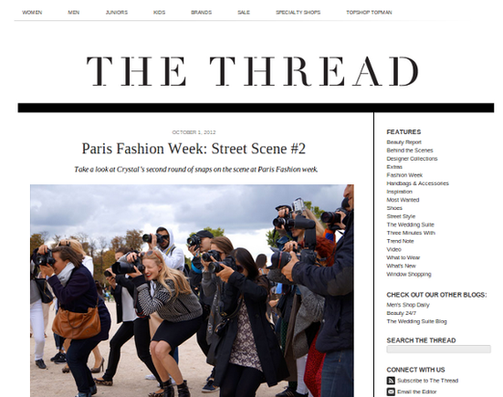 The Thread is Nordstrom's fashion blog.