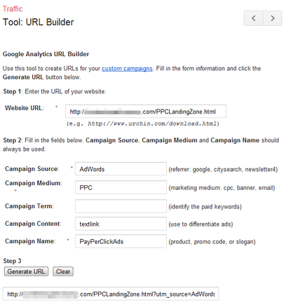Google Analytics' URL builder.