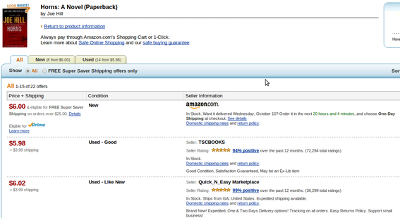 Amazon allows other retailers to sell products from its site.