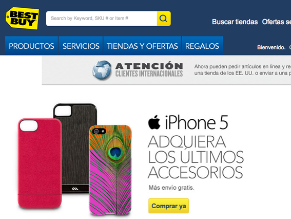 Best Buy's Spanish site.