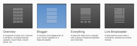 The Featured tab contains four different Channel templates.