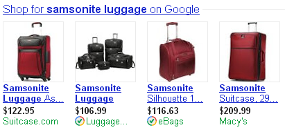 """Luggage..."" and ""eBags..."" are Trusted Stores."