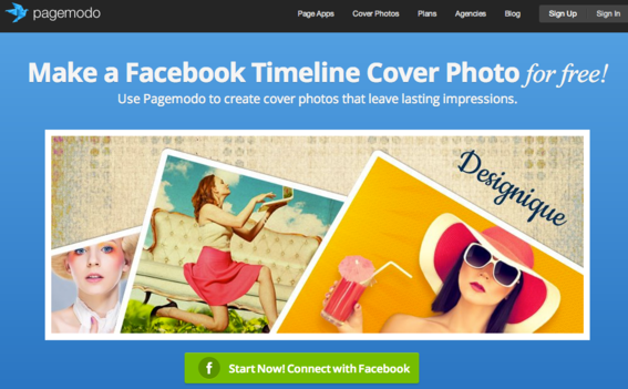 Pagemodo offers a Facebook Cover creation tool.