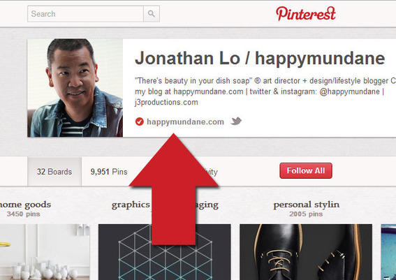Verified websites allow businesses to include a URL on their profile pages that Pinterest users know they can trust.