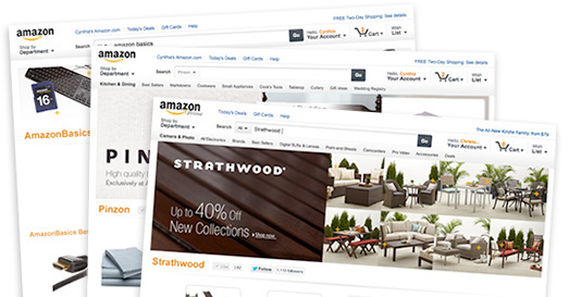 Amazon introduces business pages for merchant use.