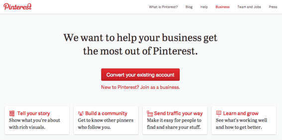 Pinterest recently launched business accounts.