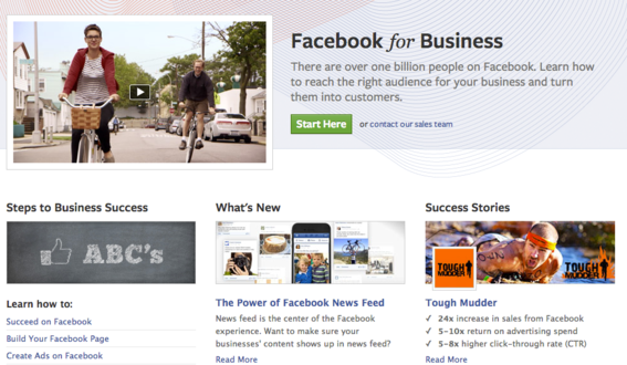 Facebook for Business has educational resources and information.