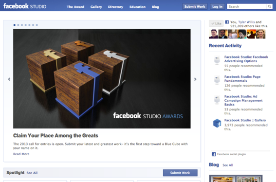 Facebook Studio is designed for agency use.
