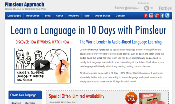 Pimsleur Approach is now a leading language learning program.