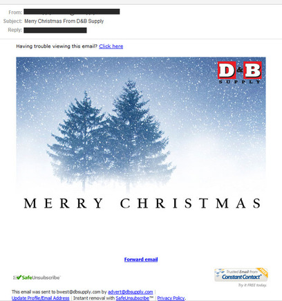 It Is Important To Have An Attractive Looking Holiday Message.  Email Greeting