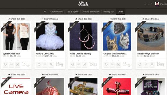 Lish is a product discovery site from Payvment.