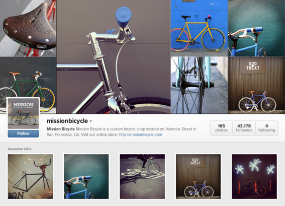 Web profile of Mission Bicycle.