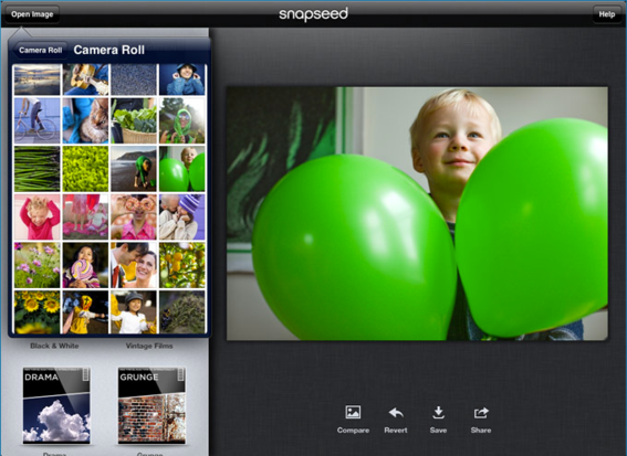 Snapseed is a photo-sharing app from Google.
