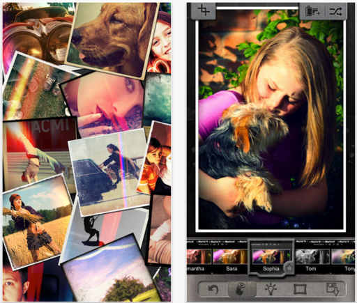 Photo editing service Pixlr has two photo-sharing apps.