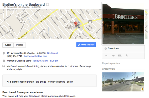 Google's business listings are now part of Google+.
