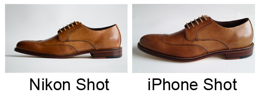 You may be surprised at the quality similarities between an iPhone and DSLR photo.