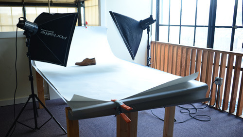 The author's custom photography setup.