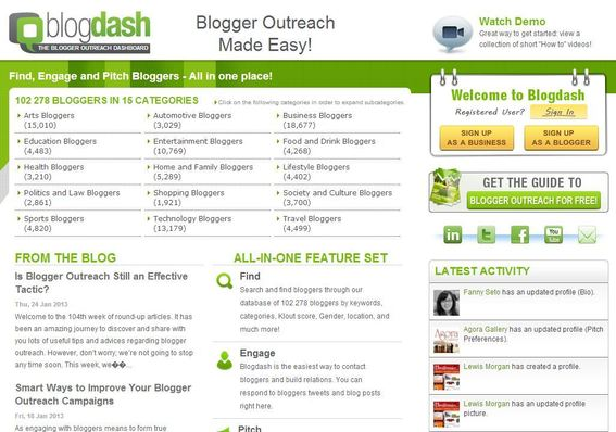 Blogdash can help you obtain product reviews from bloggers.