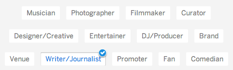 Myspace account types relate to arts and entertainment.