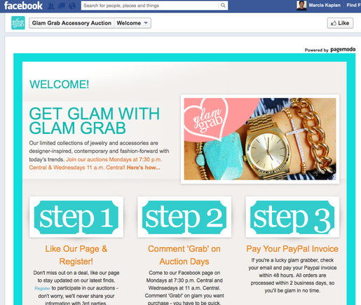 Glam Grab, a jewelry retailer, uses Soldsie.