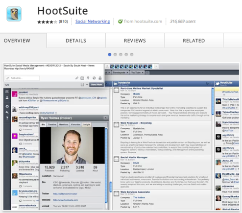 This app links users to their HootSuite account.