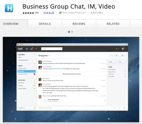 Merchants can host private group chat via IM and video.