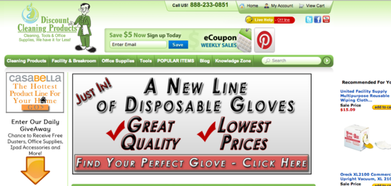 The Discount Cleaning Supplies site.