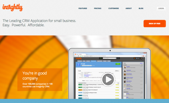 Insightly connects with social media, Gmail, Google Apps, and Google Drive.