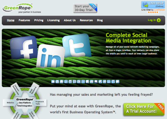GreenRope enables social media management from a single dashboard.