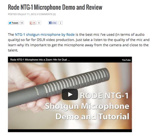 An educational product video is an opportunity for branding. This one on The Podcaster's Studio, an informational hub, explains how to use a microphone.
