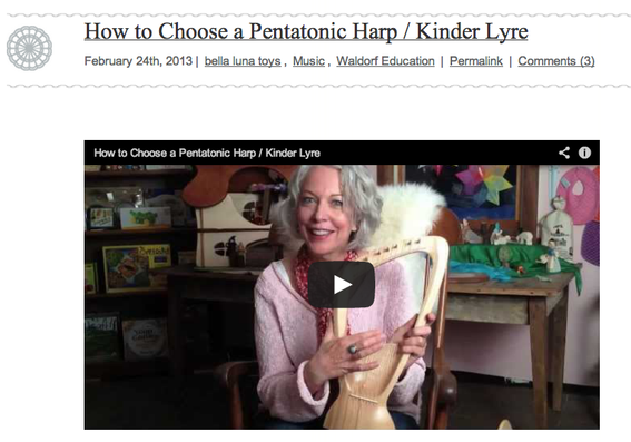 Simple how-to-choose videos are easy to create and can lead to more conversions. This video, from Bella Luna Toys, explains how to purchase a harp.