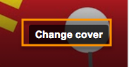 "Click the ""Change Cover"" button to create a new cover image."