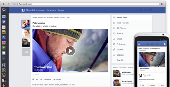 Facebook revamps design of its News Feed.