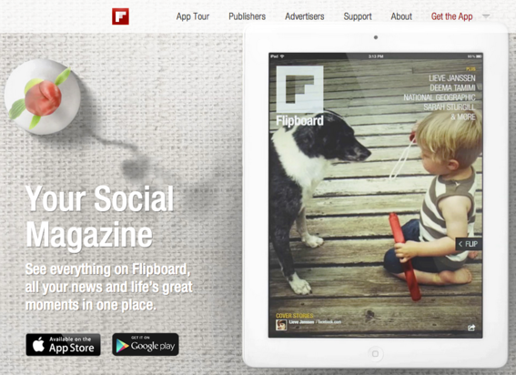 Flipboard is designed for use on iOS and Android devices.