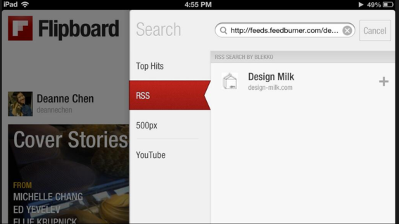 Flipboard offers a simple two-step import process.