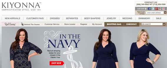 Kiyonna is a plus-size fashion retailer.
