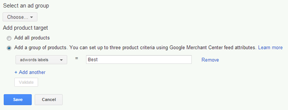 AdWords Ad Groups can also be used in your Google Shopping campaign.