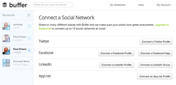 Users must first connect their social profiles.