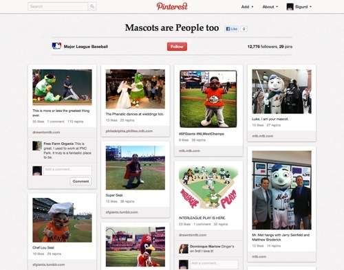 Mascots Are People Too Board by Major League Baseball.