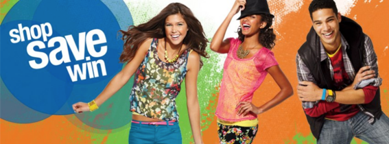 "Kohl's cover includes a call-to-action encouraging people to ""Shop. Save. Win."""