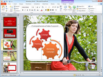 Microsoft PowerPoint 10 allows exporting presentations as videos.