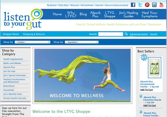 Listen To Your Gut Shoppe, the company's ecommerce site.