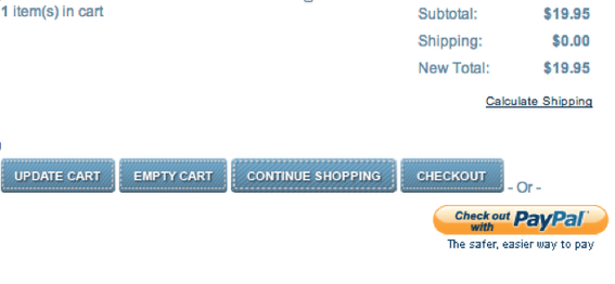 The PayPal Express checkout button.