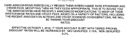 Credit cart rate change notice example.