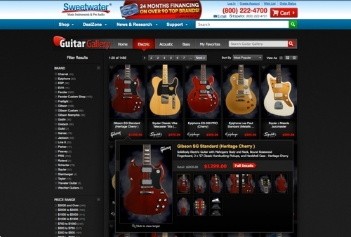Sweetwater.com – Guitar Gallery.