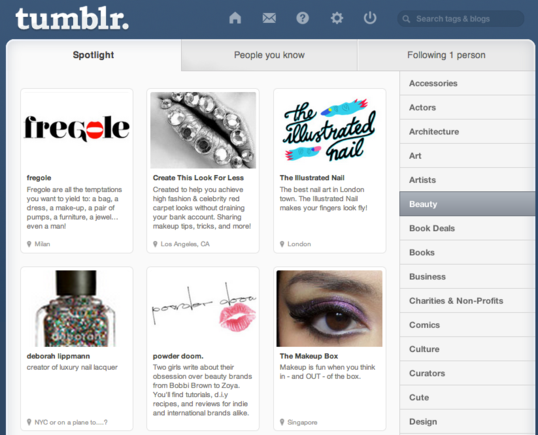 Tumblr is designed for short form, multimedia blogging.